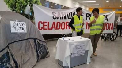 ilcanallarubens_acampada celadores no hospital alvaro cunqueiro_ vigo_ 2015