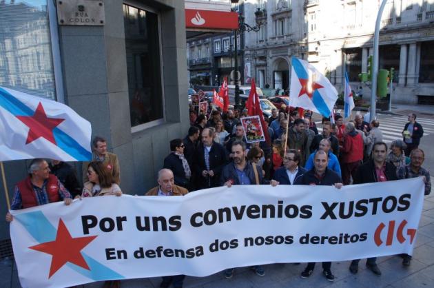 ilcanallarubens_Delegados-as da CIG-Banca manifiestanse_ 2015 _ Vigo