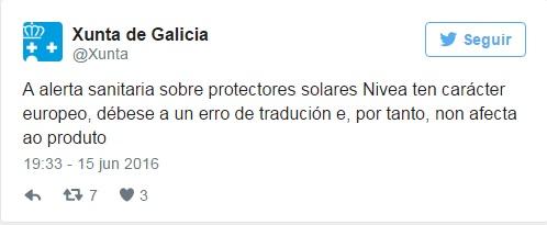 ilcanallarubens_ desmentido tuit Xunta de Galicia sobre nivea_2016